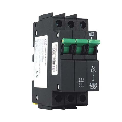 CBi Dual Mount Isolator 3 Pole 6kA 63A - QF-S-3(13) QFA30063