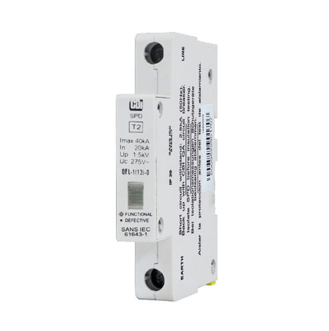 CBi DIN Rail Surge Protector QFL-1(13)D 1P 275V with Indication - 10kA
