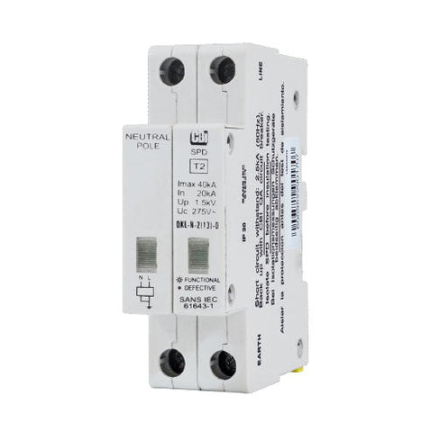 CBi DIN Rail Surge Protector QFLN-2(13)D 1P+N 275V with Indication - 40kA