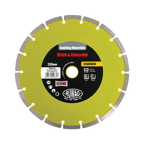 Ruwag Brick And Concrete Econo Diamond Blade 230mm