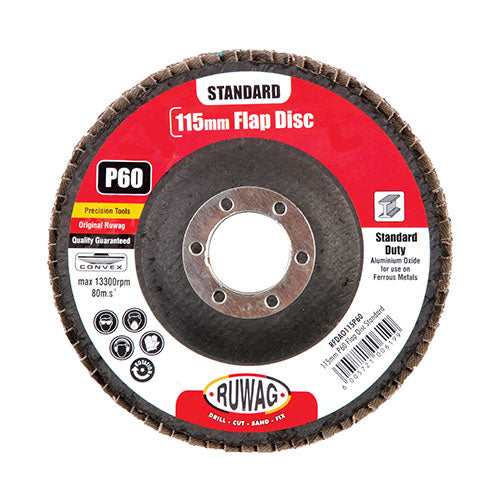 Ruwag Standard P60 Flap Disc 115mm