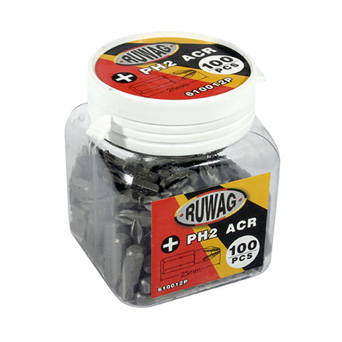 Ruwag Power Bits 2x25mm 100 piece