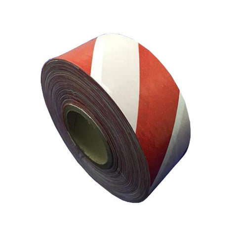 Matelec Barrier Tape Red White 75mm X 500M