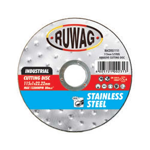 Ruwag Steel Abrasive 115mm Cutting Disc