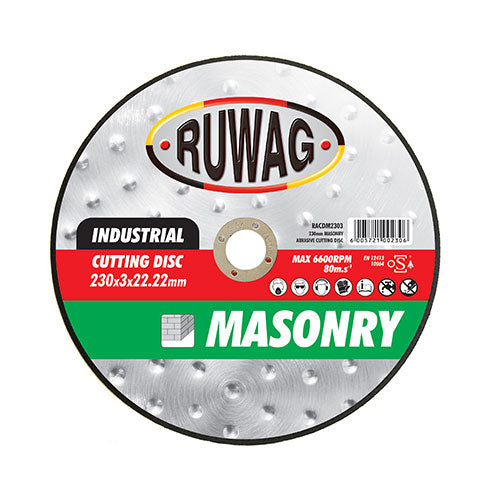 Ruwag Masonry Abrasive Cutting Disc 230mm