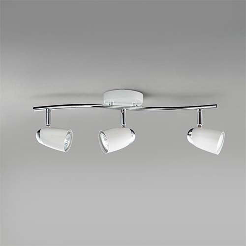 Bright Star White and Polished Chrome Spotlight S060/3 WH/CHR