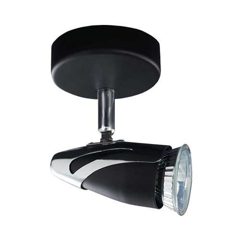 Bright Star Black Polished Chrome Spotlight