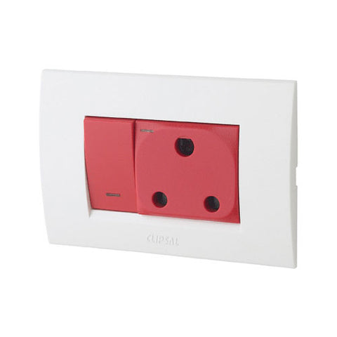 Schneider S3000 Red Dedicated Switched Socket
