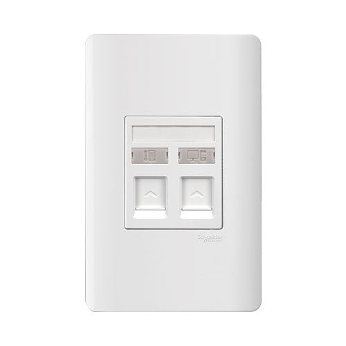 Schneider ZENcelo Tel & Data Outlet Socket