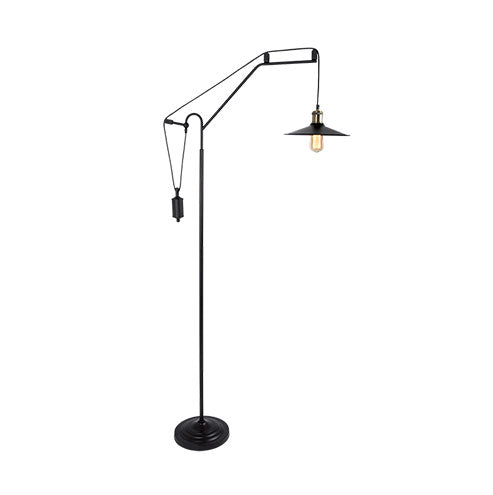 Drop Matt Black Floor Standing Lamp