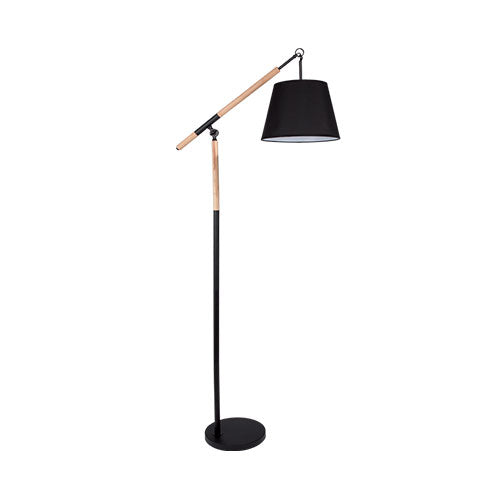 Metal & Wood Floor Standing Lamp