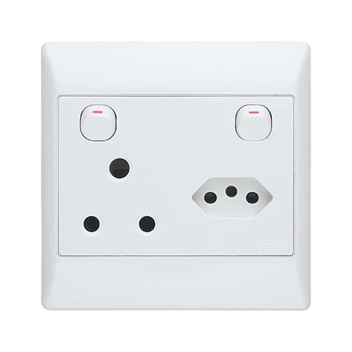 Schneider Electric  S2000 Euro Socket With Switched Socket