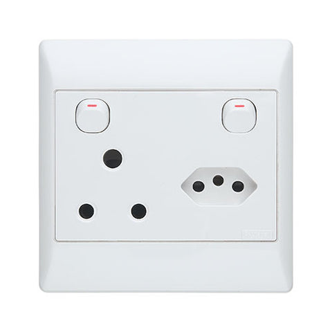 Schneider S2000 Euro Socket with Switched Socket