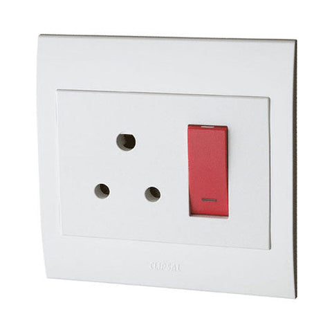 Schneider S3000 Monoblock Red Dedicated Single Switched Socket Outlet