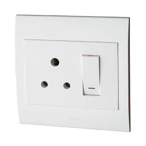 Schneider Electric  S3000 Monoblock Single Standard Switched Socket Outlet We