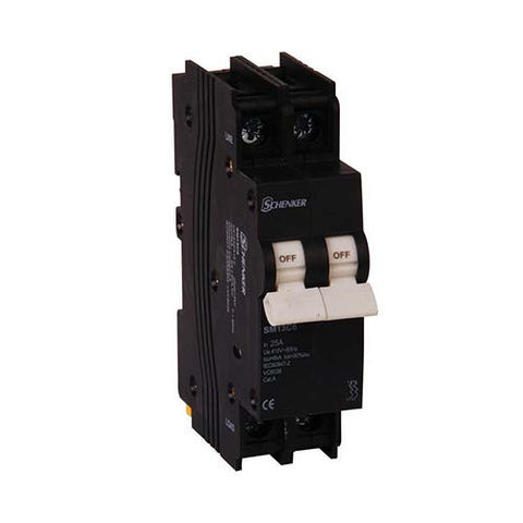 Schenker 2 Pole 3kA Mini Rail Circuit Breaker