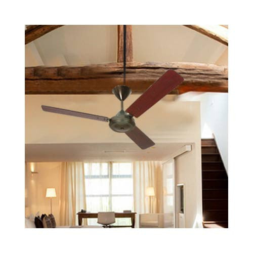 Solent High Breeze Wood 3 Blade 1200mm Mahogany & Bronze with Light