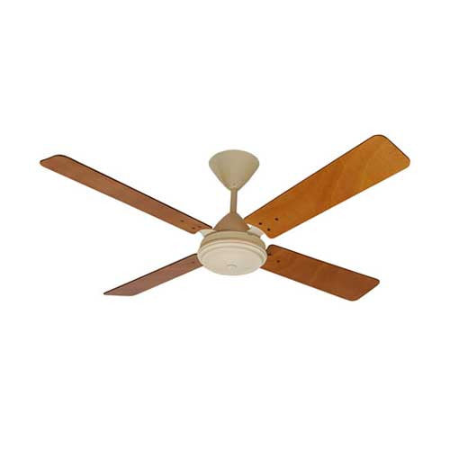Solent High Breeze 4 Blade 1200 Ceiling Fan - Biscuit & Oak