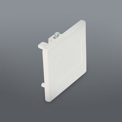 Spazio White Track End Cap