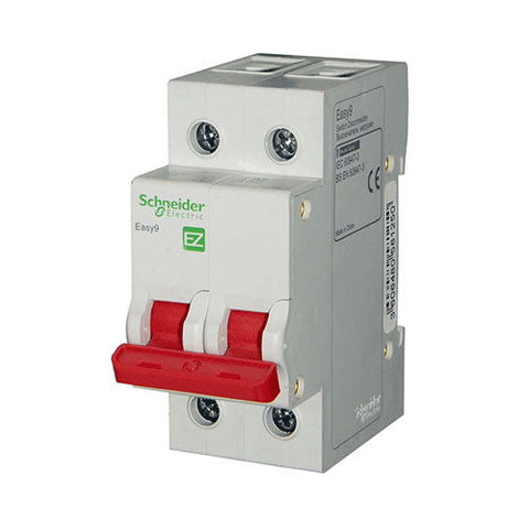 Schneider Easy9 Isolator 63A 2 Pole 3kA