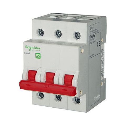 Schneider Easy9 Isolator 63A 3 Pole 3kA