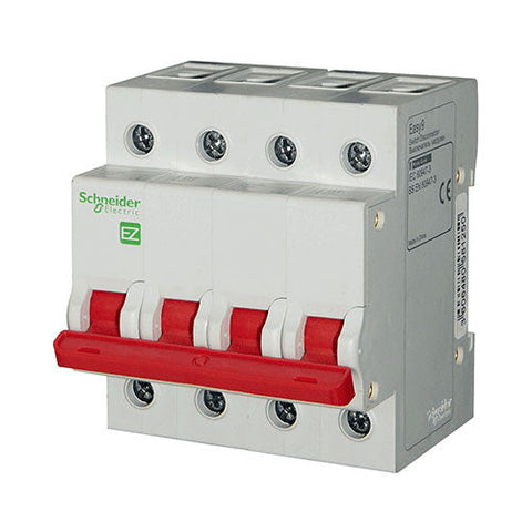 Schneider Electric  Easy9 Isolator 63A 4 Pole 3Ka