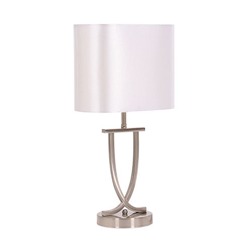 Twist Table Lamp Pearl White