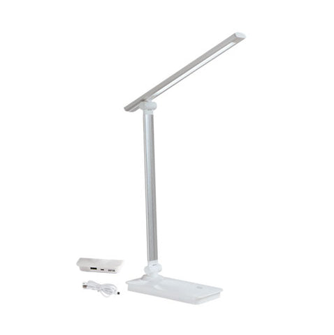 Bright Star LED Silver Table Lamp with USB Port