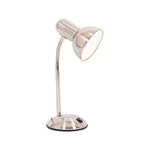 Satin Chrome Desk Lamp With Switch