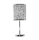 Silver Patterned Table Lamp 470mm