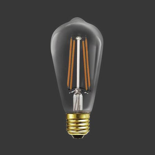 LED Filament Balloon Bulb E14 4W 400lm Warm White