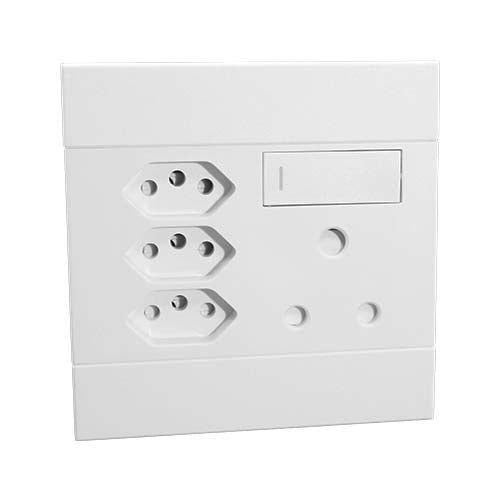 Veti 2 Switched Socket With Single Rsa 3 X Rsa V Slim White
