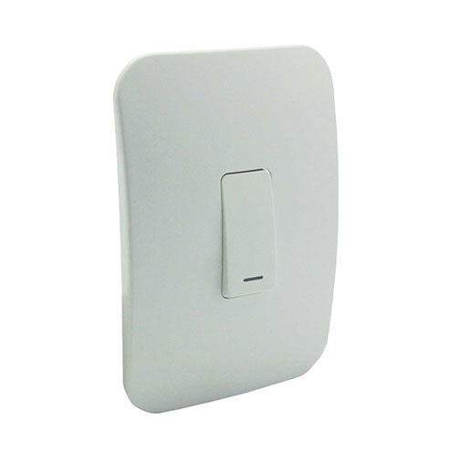 VETi 1 One Lever Bell Press Switch - White Module
