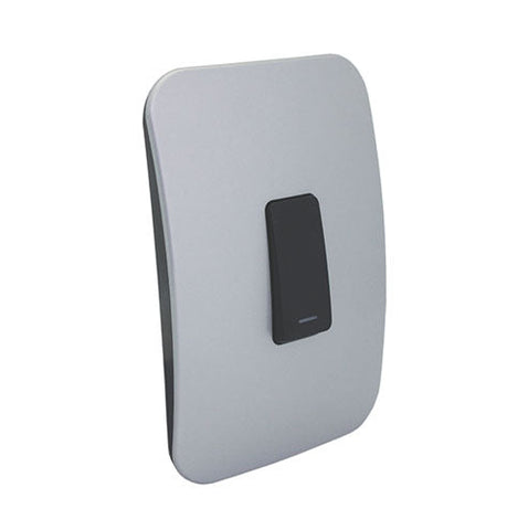 VETi 1 One Lever One-Way Light Switch - Black Module
