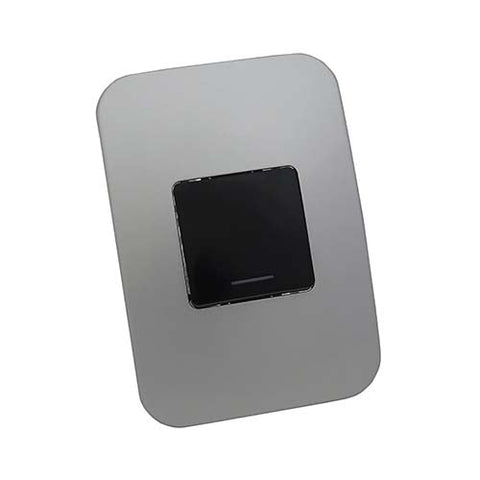 VETi 1 One Lever One-Way Light Switch - Black Double module with a Silver Cover Plate