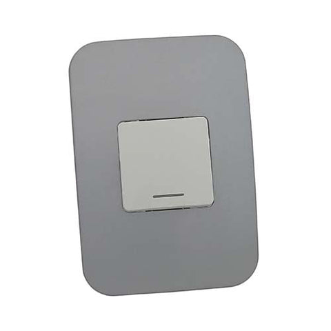 VETi 1 One Lever One-Way Light Switch - White Double module with a White Cover Plate