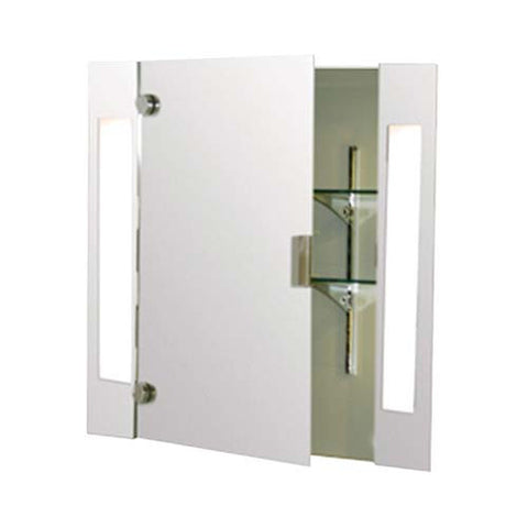 Eurolux Large Mirror Cabinet With Vertical Illuminators