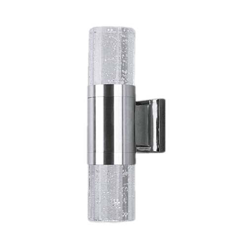 Major Tech Clear Single Cylinder LED Wall Light 6W
