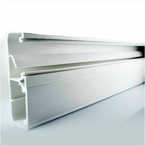 Decorduct 3 Compartment Power Skirting 2 5M White