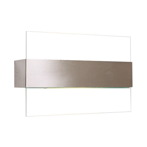 Satin Chrome Wall Bracket With Clear Glass