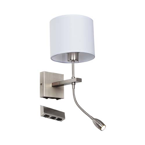 Wall Light with USB Port + Movable Light