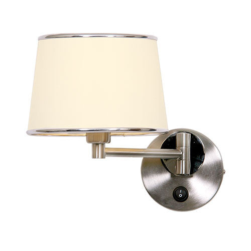 Bright Star Satin Cream Chrome Wall Lighting