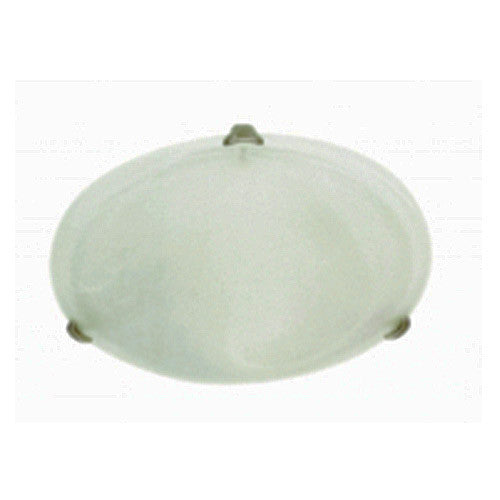 Bright Star Lighting Semplice Alabaster Glass With Satin Chrome Clips Ceiling Light 400mm