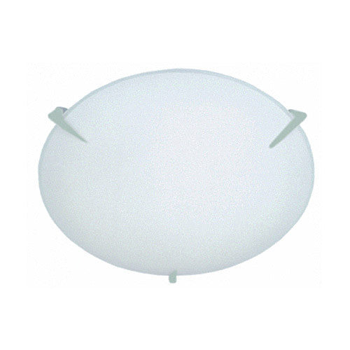 Bright Star Plain Frosted Glass with Metal Clips Ceiling fitting small