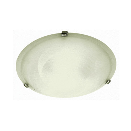 Bright Star Lighting Metal Base With Alabaster Glass And Silver Clips 300mm