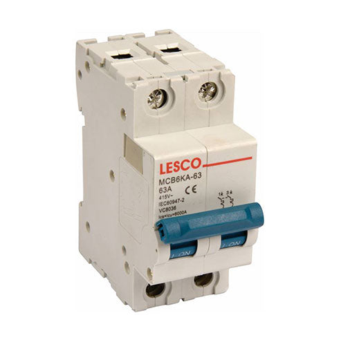 Lesco Circuit Breaker 2P 3kA 20A-63A