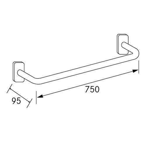 Franke Cntx750 Straight Grab Bar