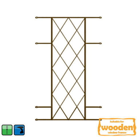 Xpanda Diamond Burglar Guard - 530mm x 1000mm Bronze | Burglar Guard