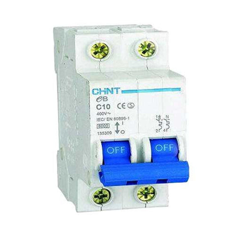 Chint 3Ka 2 Pole C Curve Circuit Breaker