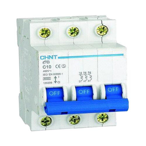 Chint 3Ka 3 Pole C Curve Circuit Breaker